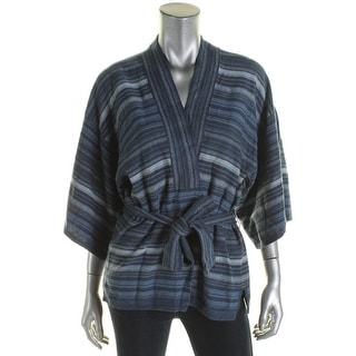 Lauren Ralph Lauren Womens Cardigan Sweater Striped Cardigan - S/M