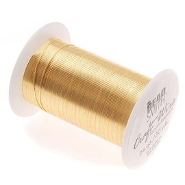 Beadsmith Tarnish Resistant Gold Color Copper Wire 24 Gauge 30 Yards (27.4 Meters)