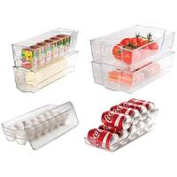 Culinary Edge CE701 7-Piece Food Storage Set, Clear