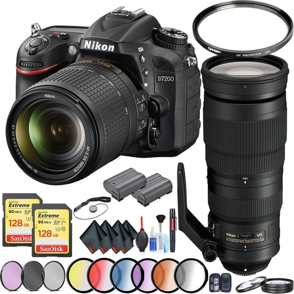 d4c97487d Shop Nikon D7200 Camera with 18-140mm Lens Wildlife Kit Intl Model ...
