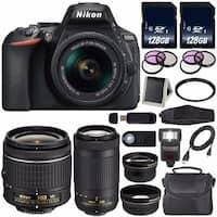 NikonD5600DSLRCamerawith 18-55mmVRAF-PLens(Black)International Model + Nikon AF-P DX 70-300mm f/4.5-6.3G ED Lens Bundle