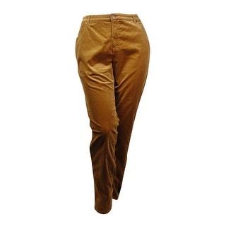 Charter Club Women's Plus Size Lexington Tummy-Control Corduroy Pants (Option: 18w)