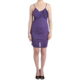 Galliano Galliano Purple jersey dress