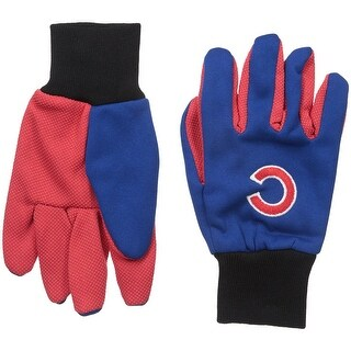Officially Licensed MLB No Slip Gardening / Work / Utility Glove With Team Logo Baseball Chicago Cubs