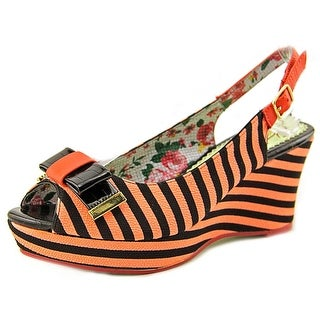 Poetic Licence Mad Money Open Toe Canvas Wedge Sandal