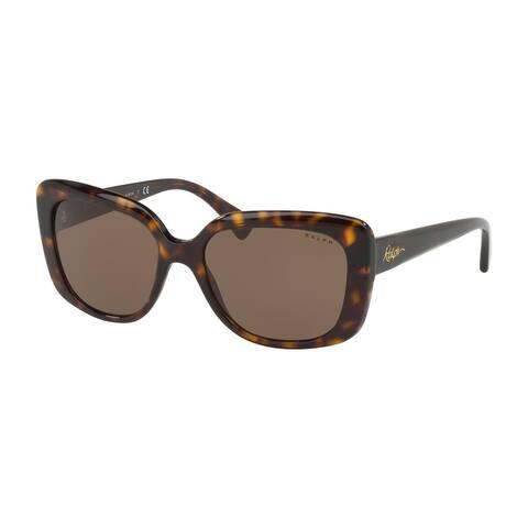 Ralph RA5241 500373 55 Shiny Dark Havana Woman Pillow Sunglasses - Tortoise