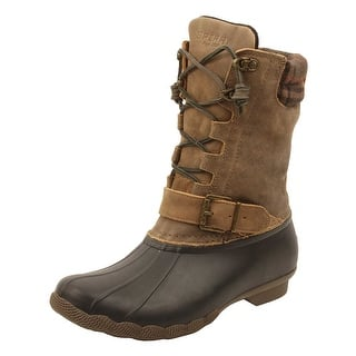 Sperry Womens Saltwater Misty Plaid Duck Boots in Black/Tan (Option: 6.5)|https://ak1.ostkcdn.com/images/products/is/images/direct/9a23ed8b397932d251bed0cba569f41eeca57feb/Sperry-Womens-Saltwater-Misty-Plaid-Duck-Boots-in-Black-Tan.jpg?impolicy=medium