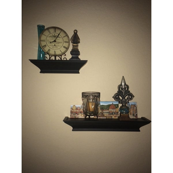 shop clay alder home beeson level line wood floating shelves 3 rh overstock com Level Tool level line shelves kohls