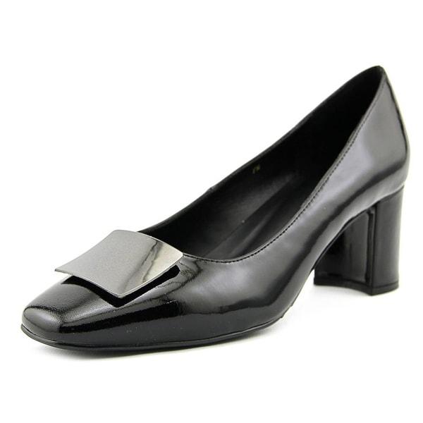 Vaneli Eara Women Square Toe Synthetic Black Heels