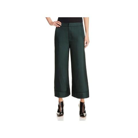 Alexander McQueen Womens Trouser Pants Satin Wide Leg