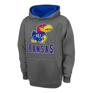 Campus Heritage Youth Boys' Kansas Pullover Hoodie Charcoal Grey Medium (12-14) - Charcoal Grey - medium-10/12
