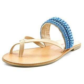 Pink & Pepper Nataley Women Open Toe Synthetic Tan Slides Sandal
