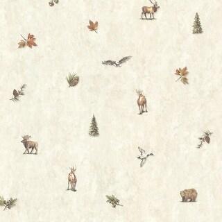 Brewster TLL01453 Hiram Fog Animal Toss Wallpaper