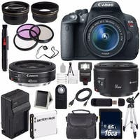 Canon EOS Rebel T5i 18 MP CMOS Digital SLR Camera(International Model) + Canon EF 50mm f/1.8 II SLR Lens Bundle