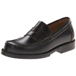 Academie Gear Boys josh Slip On Penny Loafers, Black, Size 1 1/2M Youth - 1 1/2m youth