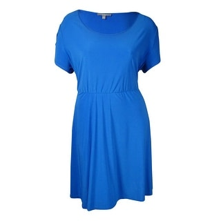 NY Collection Women's Scoop Neck Solid Jersey Dress - 3x