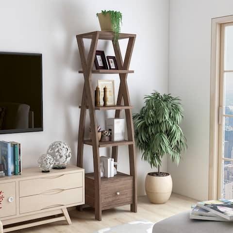 Copper Grove Tashkent 5-shelf Display Bookcase with 1 Lower Drawer