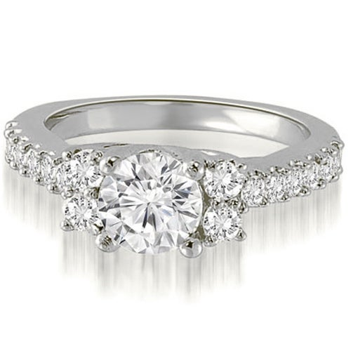 1.61 cttw. 14K White Gold Round Cut Diamond Engagement Ring
