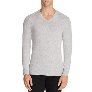 Burberry Randolf Gray Cashmere V-neck Sweater