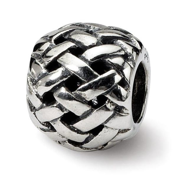 Sterling Silver Reflections Basketweave Bali Bead (4mm Diameter Hole)
