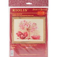 """Pink Pomegranate Counted Cross Stitch Kit-15.75""""X11.75"""" 14 Count"""