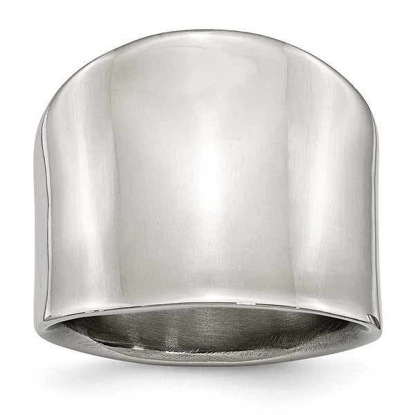 Chisel Stainless Steel Polished Ring (16.5 mm)