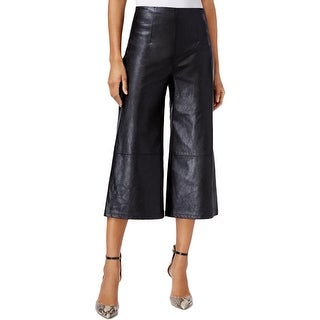 Guess Womens Culottes Wide-Leg Faux Leather - 8