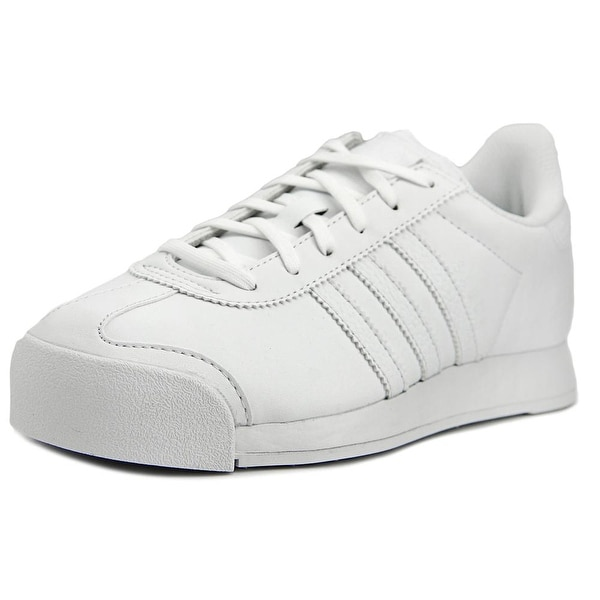 Adidas Samoa J Women  Round Toe Synthetic White Sneakers