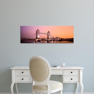 Easy Art Prints Panoramic Images's 'Tower Bridge London England' Premium Canvas Art