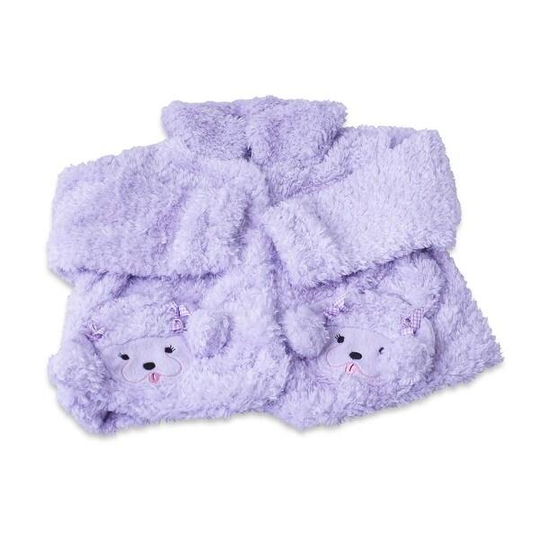 Fuzzy Wear Girls Purple Poodle Jacket, 18