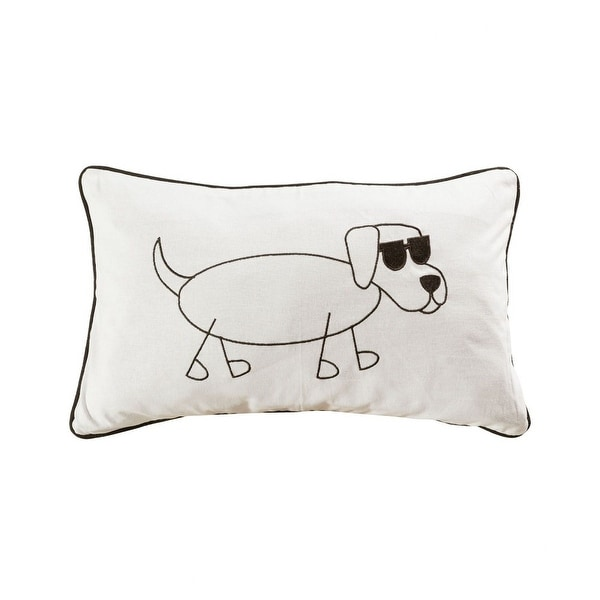 Dog with Sunglasses Lumbar 20x12-inch Pillow Cover Only Black/White Colors Black/White Finish. Opens flyout.