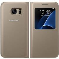 Samsung SA-EF-CG930PFEGWW S View Flip Cover for Galaxy S7 - Gold