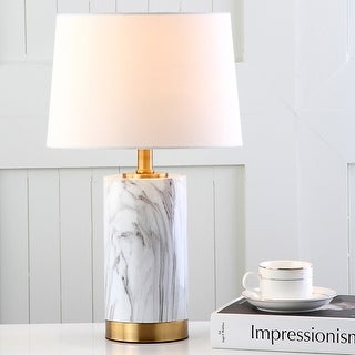 Safavieh Lighting 18 25 Inch Clarabel White Black Marble Table Lamp 11 X 11 X 18 25 On Sale Overstock 19467699
