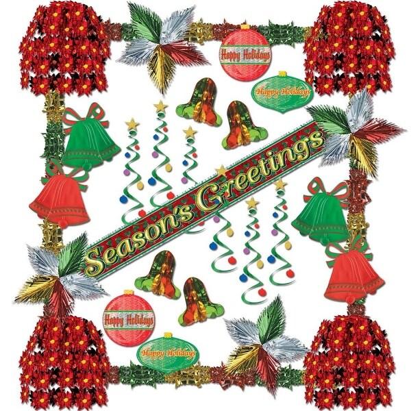 Seasons Greetings Reflections 31 Piece Christmas Decorating Kit - green