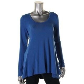 Karen Kane Womens Hi-Low Seam Detail Pullover Sweater