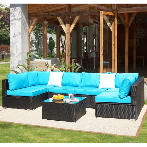Grearden Outdoor Conversation Set, Patio Furniture Sectional Sofa with Cushion