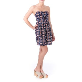 Be Bop Womens Juniors Sundress Printed Strapless