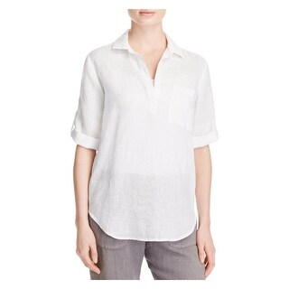 Side Stitch Womens Casual Top Linen Tunic