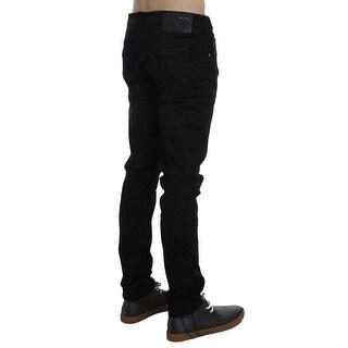ACHT ACHT Black Wash Cotton Stretch Slim Fit Jeans - w34