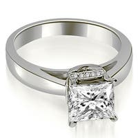 0.55 cttw. 14K White Gold Princess Cut Diamond Engagement Ring