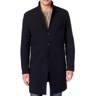 Michael Kors NEW Blue Mens Size 3XL Button Front Wool Over Coat