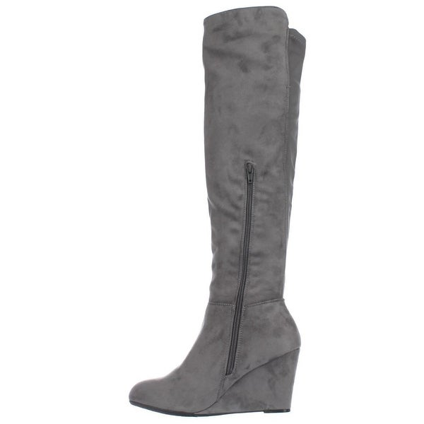 Chinese Laundry Womens Unbelievable Almond Toe Over Knee Fashion Boots