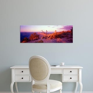 Easy Art Prints Panoramic Image 'Desert View Watchtower, Desert Point, Grand Canyon National Park, Arizona' Canvas Art