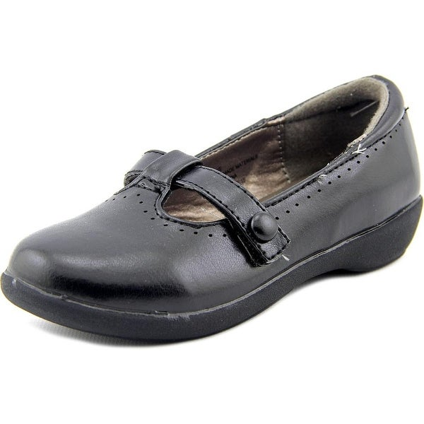 French Toast Eve Youth Round Toe Synthetic Black Flats