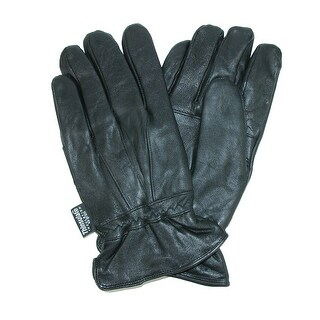 Dorfman Pacific Men's Leather Water Repellent Gloves with Thinsulate