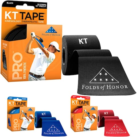 """KT Tape Pro Folds of Honor Special Edition 10"""" Precut Sports Roll - 20 Strips - 20 Strips"""