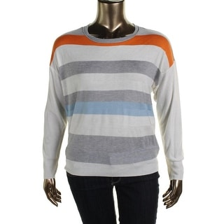 Vince Camuto Womens Knit Colorblock Sweater - XL