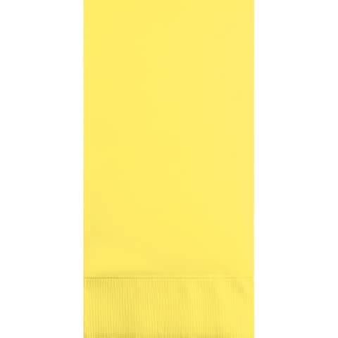 """Club Pack of 192 Mimosa Yellow 3-Ply Disposable Party Paper Guest Napkins 8"""""""