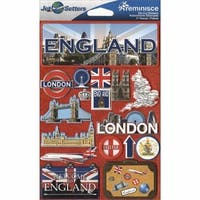 Jet Setters Dimensional Stickers-England