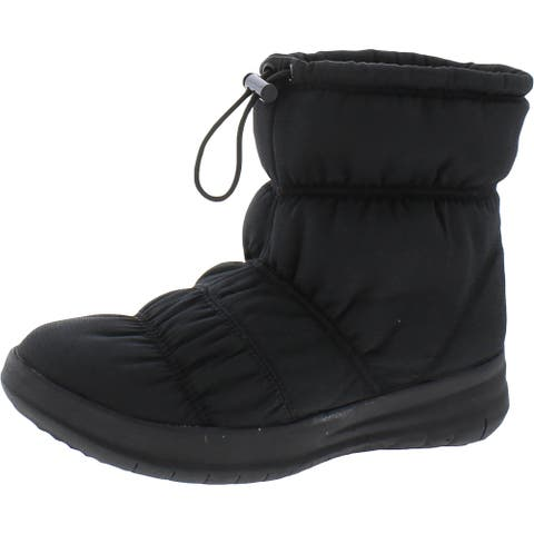 Fitflop Womens Rita Puffer Winter Boots Weatherproof Cold Weather - All Black